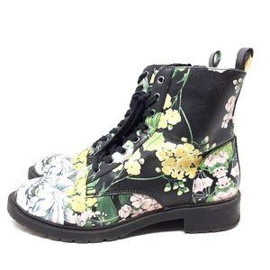 Steve Madden Officer Floral Combat Boots 8